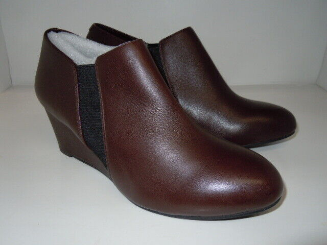 """Vionic """"ELEVATED STANTON"""" JAVA brown Ankle Boots Sz 9 M"""