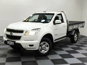 2013 Holden Colorado RG MY13 LX White 6 Speed Sports Automatic Cab Chassis Edgewater Joondalup Area Preview