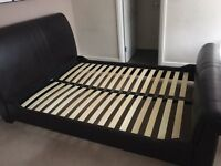 King size bed (matress not included), 2 bedside tables and chest of drawers