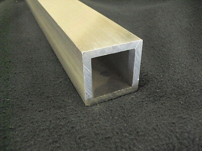 3 Aluminum Square Tube 14 Wall X 24 Long 6061 Square Tube Mill Finish