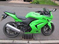 Kawasaki ninja motorbike bike motorcycle - 250r 249cc 250cc