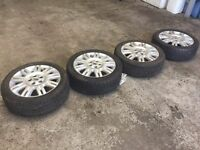 SET OF FORD MONDEO WHEELS & TYRES 17""