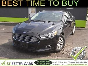 2015 FORD FUSION S with LEATHER, YOU CAN OWN RIGHT NOW: $50/week
