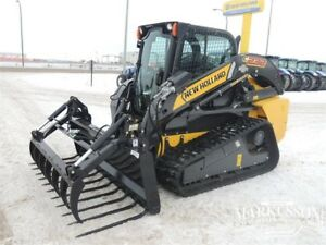 "HLA 84"" Manure Fork with Utility Grapple for Skid Steers"
