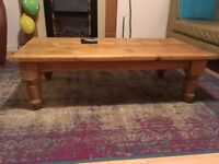 Vintage Large Pine Coffee Table ~ Chunky, Distressed, adds Character.