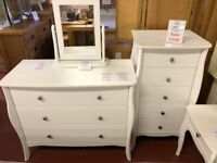 NEW White Elegance Tall Chest of drawers SALE £129