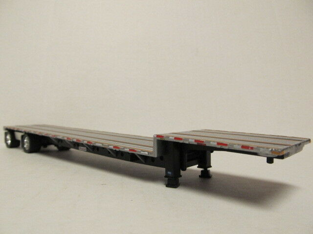 DCP 1/64 SCALE TRANSCRAFT STEP DECK TRAILER SILVER DECK WITH BLACK FRAME