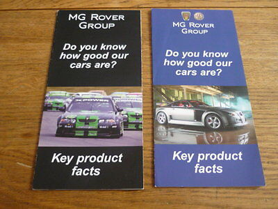 """ROVER AND MG """"KEY FACTS"""" BROCHURES - 2"""