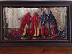 Peinture à l'huile de Nathalie Chiasson (comprend cadre)