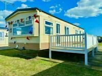 Cheap static caravan for sale , sited in Essex with decking