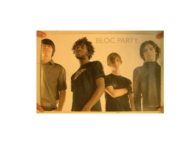 Bloc Party Poster Silent Alarm Two Sided Party.