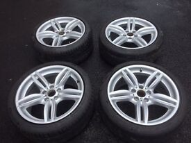 """Genuine BMW M Sport 19"""" 351M Alloy Wheels/Tyres set of 4 used from 520d M Sport"""