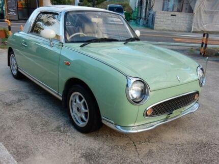 1991 Nissan Figaro sexy Leather edition Lapis Green Automtatic Convertible Burwood Burwood Area Preview