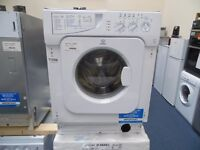 NEW GRADED WHITE 7 KG INTEGRATED INDESIT WASHING MACHINE REF: 11598