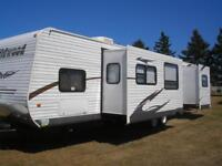 Travel Trailers for Rent at Marco Polo Land in Cavendish, PE