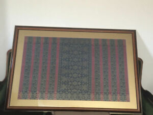 VARIETY VINTAGE OF HAND WOVEN SILK,WATER COLOR,VINTAGE OIL PAINT