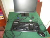 """LOGITECH MONITOR 19.5""""; KEYBOARD and B110 OPTICAL USB MOUSE FOR SALE"""