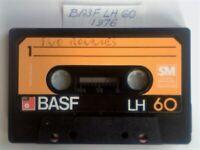 9x NOW VERY RARE 1976-1979 BASF CASSETTE TAPES ; LH SM, FERRO SUPER LH, FERRO SUPER LHI, CHROMDIOXID