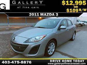 2011 Mazda3 Sport GX $109 bi-weekly APPLY TODAY DRIVE TODAY
