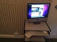 APPLE IMAC 21 INCHES , INCLUDING TABLE , APPLE MOUSE AND KEYBOARD , LAPTOP DESKTOP