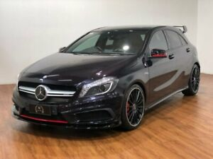 2014 Mercedes-Benz A45 W176 AMG SPEEDSHIFT DCT 4MATIC Black 7 Speed Sports Automatic Dual Clutch