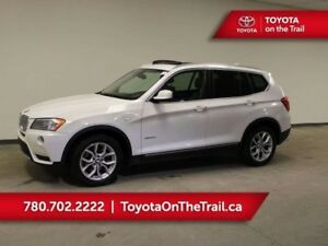 2013 BMW X3 PANORAMIC SUNROOF, LEATHER, HEATED SEATS, WINTER T