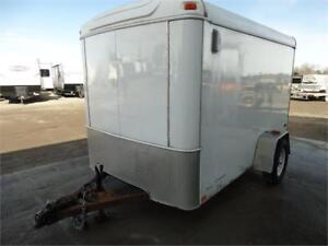 Used 6x10 enclosed utility trailer for sale