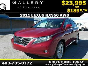 2011 Lexus RX350 AWD $189 bi-weekly APPLY TODAY DRIVE TODAY