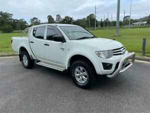 2011 Mitsubishi Triton MN MY11 GLX (4x4) White 5 Speed Manual 4x4 Double Cab Utility West Gosford Gosford Area Preview