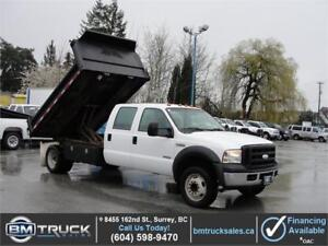 2007 FORD F-550 SUPER DUTY CREW CAB DUALLY DUMP TRUCK DIESEL