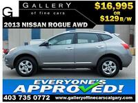 2013 Nissan Rogue S AWD $129 bi-weekly APPLY NOW DRIVE NOW