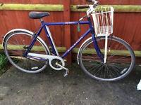 """mens raleigh pioneer 3 speed sturmy archer gears 21"""" steel frame bicycle spares repairs"""