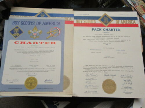 Cub Scout Pack Charters  From 1950-80
