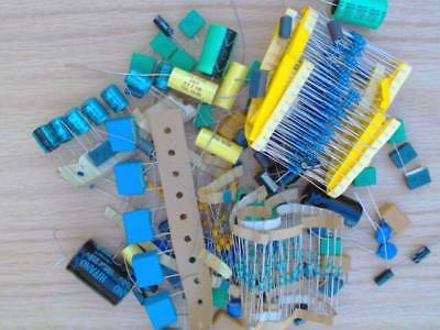 Mixed Grab Bag Of Components Capacitors Resistors Plus More All New Parts