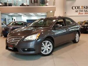 2015 Nissan Sentra SL-LEATHER-NAVI-CAMERA-SUNROOF-ONLY 66KM