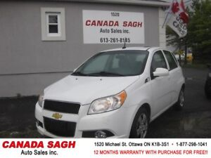 2010 Chevrolet Aveo LT AUTO,ROOF, 99km ! 12M.WRTY+SAFETY $5490