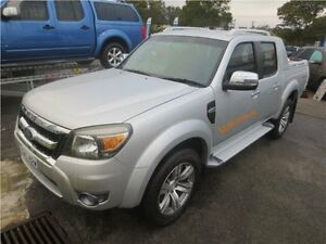 2009 Ford Ranger PK Wildtrak Crew Cab Silver 5 Speed Manual Utility Cardiff Lake Macquarie Area Preview