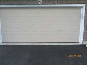 18x7 STANDARD DOUBLE STEEL/METAL GARAGE DOOR - GREAT CONDITION