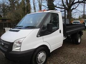 2012 Ford Transit 2.2TDCi SINGLE CAB TIPPER 350 LWB 2012 REG NO VAT 80,000 MILES