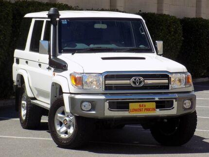 2014 Toyota Landcruiser VDJ76R GXL White 5 Speed Manual Wagon Blair Athol Port Adelaide Area Preview