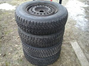 4 winter tires on 5X100mm rims
