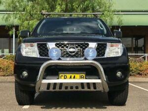 2011 Nissan Navara D40 MY11 ST Utility Dual Cab 4dr Man 6sp 4x4 886kg Black Manual Utility