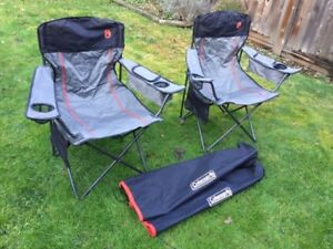 Coleman deluxe folding chairs