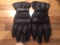 HEIN GERICKE GENUINE LEATHER MOTOR CYCLE GLOVES SIZE LARGE