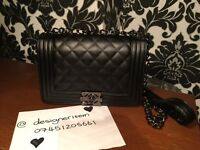 CHANEL Le Boy Black designer bag