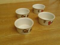 Royal Worcester Flameproof Porcelain Ramekins. (4)