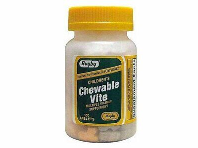 Kid Vite Chewable Multivitamin (Rugby Children's Chewable Vite Multiple Vitamin Animal Shape 100 Tablets )