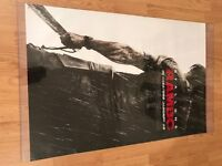 Large Hanging Rambo movie poster in plastic covering- 111 cm (43.5 inches) x 68 cm (27 inches)