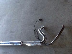2 INTO 1 HARLEY TOURING PIPE AND SLIP-ON-LIKE NEW