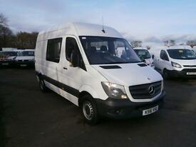Mercedes-Benz Sprinter 313 CDI MWB 3.5t High Roof Crew Van DIESEL MANUAL (2016)